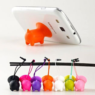 Combo 4 Giá Đỡ Hít Điện Thoại Silicon Mini Pig
