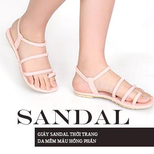Giày Sandal Thời Trang Da Mềm Màu  Hồng Phấn  - S619