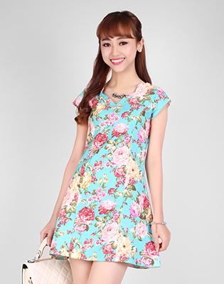 Đầm Kaki Họa Tiết Xinh Xắn tại Hồ Chí Minh