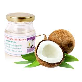 Dầu Dừa Nguyên Chất Hai Lúa 100 ml