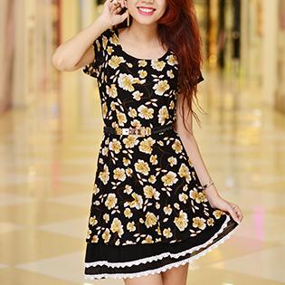 Váy Ren Thun Xòe Điệu Đà