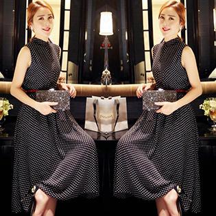 Đầm Vintage Cổ Trụ