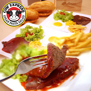 Cow Express - Combo 02 Phần Bittet Bò Mỹ Với 7 Loại Nước Sốt Tự Chọn