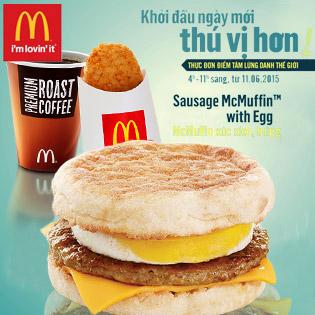 McDonald's - Khởi Đầu Ngày Mới Cùng Điểm Tâm Lừng Danh Thế Giới (Combo gồm 02 Voucher, trị giá 50.000 VNĐ/ Voucher)