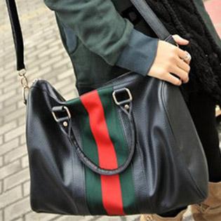 Túi Xách Kiểu Dáng Gucci Sọc Xanh Đỏ