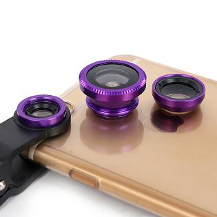 Lens Chụp Hình 3 Trong 1 Dùng Cho Điện Thoại, Máy Tính Bảng