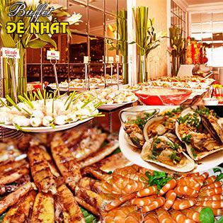 Buffet Trưa Đệ Nhất Trên 60 Món Việt, Á, Âu + Miễn Phí Nước Uống