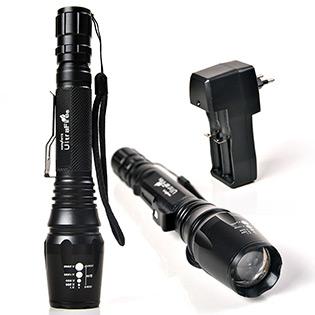 Đèn Pin Ultra Fire Cree Xml T6 Zoom 05 Chế Độ Sáng
