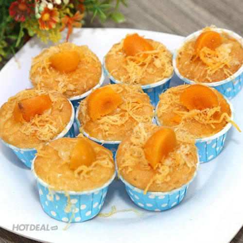 Combo 8 Bánh Bông Lan Trứng Muối Nhân Phô Mai, Chà Bông
