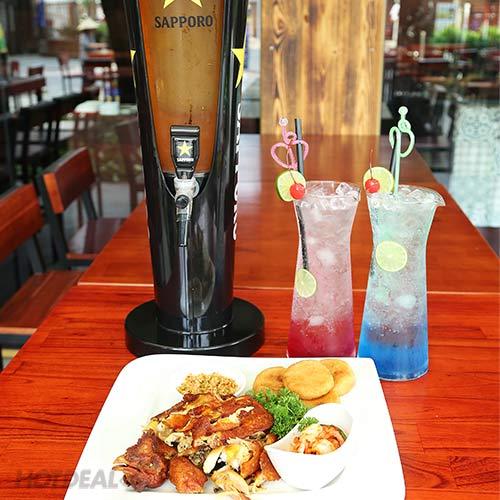 Combo Tháp Bia/ Mocktail + 1/2 Gà Quay + Xôi Chiên Cho 2-4 Người Tại Doho Beer Garden