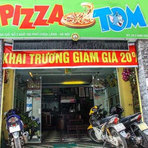 Combo 2h Hát + Pizza + Phở Cuốn + Bia/Nước Ngọt Tại NH Pizza Tom.