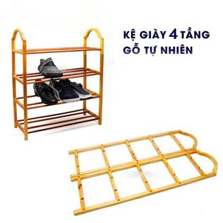 Kệ Để Giầy 4 Tầng Bằng Gỗ