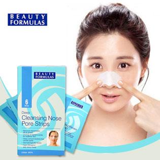 Miếng Dán Tẩy Mụn Cám Mũi (6 Miếng) Beauty Formulas - NK Anh Quốc