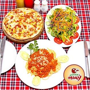 Set Pizza, Mỳ Ý Kèm Đồ Uống Cho 2 Người Tại Pizza Hoa Ý