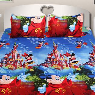4 Mẫu Drap Cotton Nhung Mickey Đáng Yêu