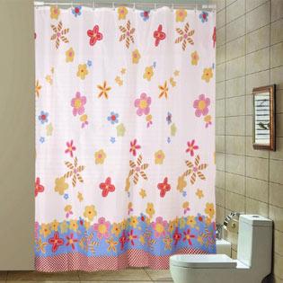 Rèm Treo Phòng Tắm Họa Tiết Hoa (180 x 200 cm)