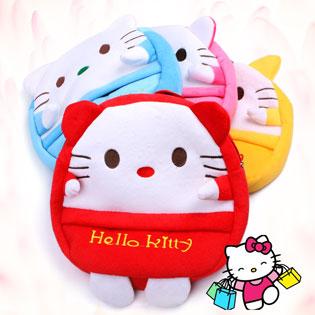 Ba Lô Hello Kitty 02 Ngăn Vải Cực Mịn Cho Bé