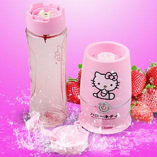 Máy Xay Sinh Tố Hello Kitty Kèm Cối Xay 2 In 1 Làm Bình Nước Tiện Lợi