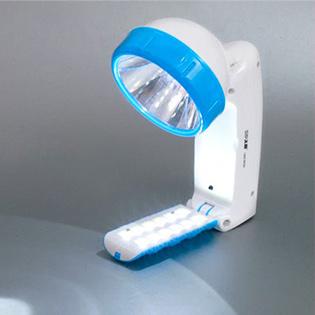 Đèn Pin Sạc Đa Năng Xoay 120 Độ Kèm Đèn Led Để Bàn 12 Bóng