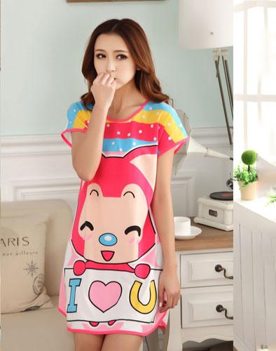Váy Ngủ Hoạt Hình 2 Mặt Đáng Yêu Cho Bạn Gái