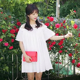 Đầm Jessy Phối Ren