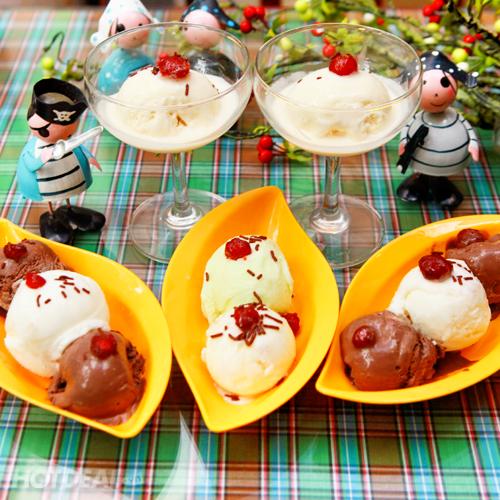 Set Kem Trái Dừa Tươi Tại Lassi Ice Cream