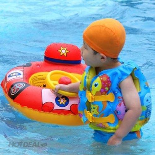 Áo Phao Tập Bơi Ngày Hè Cho Bé Họa Tiết Đại Dương