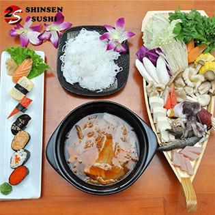 Lẩu Kim Chi + Sushi Cho 2 Người Tại Shinsen Sushi – Giao Hàng Miễn Phí