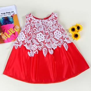 Đầm Ben Ngực Phủ Ren Cho Bé Gái
