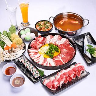 Jojo Buffet - Set Bò Mỹ Nướng & Lẩu + Sushi & Thức Uống Cho 2 Người