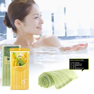 Combo 1 Bông Tắm Thảo Dược Và 1 Bông Tắm Trà Xanh Made In Hàn Quốc