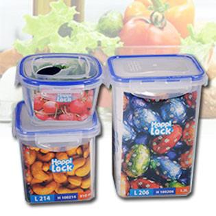 Bộ 3 Hộp Nhựa Đựng Thực Phẩm Happy Lock