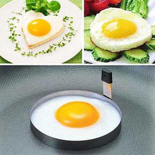 Combo 3 Khung Inox Cao Cấp Chiên Trứng Và Bánh Tạo Hình Xinh Xắn