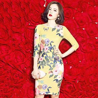 Đầm Body Hoa Lana Cao Cấp