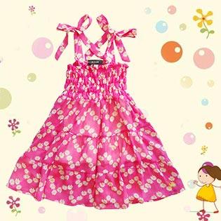 Đầm Cúp Ngực Điệu Đà Cho Bé