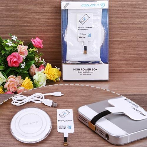 Bộ Thẻ Sạc + Đế Sạc Không Dây Coolcold H3 Cho Iphone 5/6/6plus - Chính Hãng