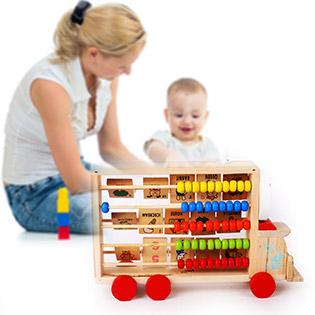 Ô Tô Gỗ Cho Bé Vui Học - ViVi Toys