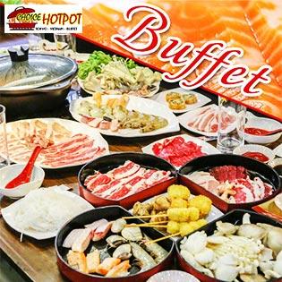 Buffet Tối Lẩu Nhật & Sushi, Miễn Phí Buffet Kem, Tráng Miệng, Món Ăn Kèm