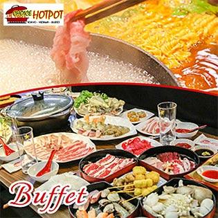 Buffet Trưa Lẩu Nhật & Sushi, Miễn Phí Buffet Kem, Tráng Miệng, Món Ăn Kèm