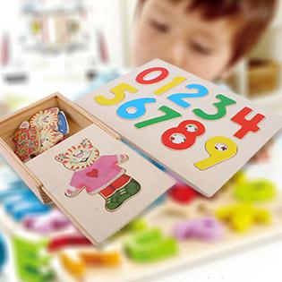Combo 1 Hộp Gấu Thay Áo + 1 Bảng Số Cao Cấp Vivi Toys