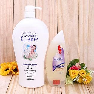 Combo 1 Chai Sữa Tắm White Care 2X Và 1 Chai Sữa Tắm Cá Ngựa Cao Cấp