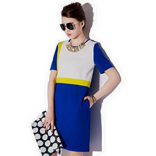 Đầm Suông Phối Màu Alice