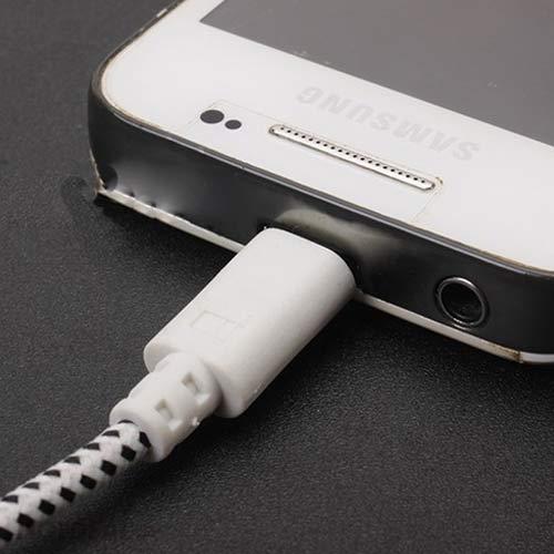Cáp Sạc Samsung Bọc Lưới Loại Cao Cấp 2m