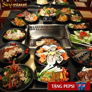 Buffet Lẩu Nướng Singapore NH Sing Royal City - Free Pepsi Tươi