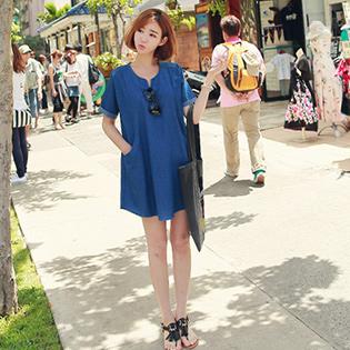 Đầm Denim Form Suông Fashion