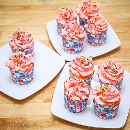 Combo 10 Bánh Cupcake Tại The Mousse House – Áp Dụng Mua Mang Về