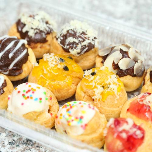 1 Trong 3 Set 12 Bánh Su Kem Singapore - Giao Hàng Miễn Phí