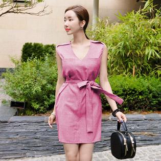 Đầm Linen Vichy Sành Điệu