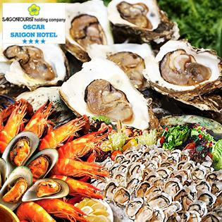 Buffet Trưa Hải Sản Tại Oscar Saigon Hotel 4* - Phố Đi Bộ Đẹp Nhất VN