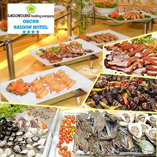 Buffet Tối T6, 7 & CN Hải Sản, Nướng & Lẩu - Oscar Hotel 4* - Phố Đi Bộ Đẹp Nhất VN